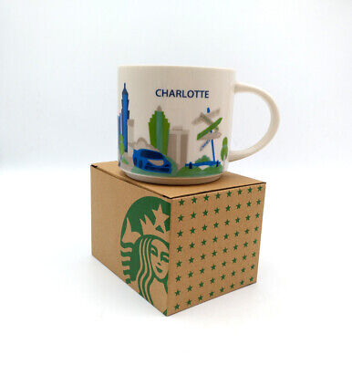 Starbucks 14oz Coffee Mug Cup Charlotte City You Are Here Collection YAH Ceramic