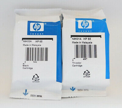 New HP 65 Combo Ink Cartridges Black & Color Genuine