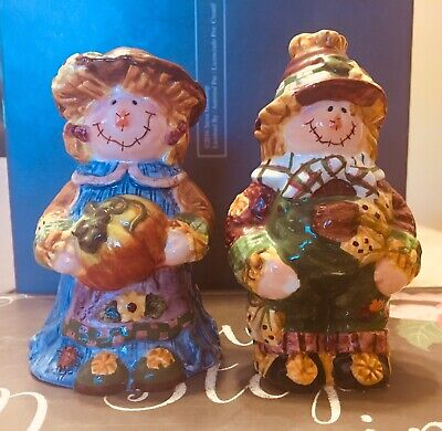 Halloween Scarecrow Salt And Pepper Shakers