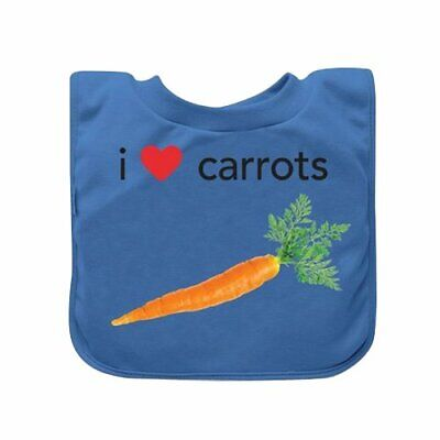 green sprouts Favorite Food Absorbent Baby Bib, Blue Carrots, 9/18 Months