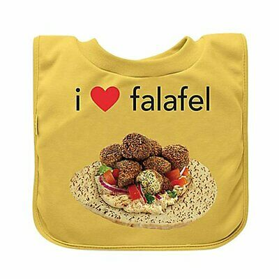 green sprouts Favorite Food Absorbent Baby Bib, Yellow Falafel, 9/18 Months