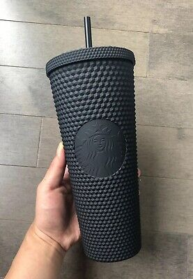 Starbucks Matte Black Studded Venti Cold Cup Tumbler Limited Edition - Fall 2019