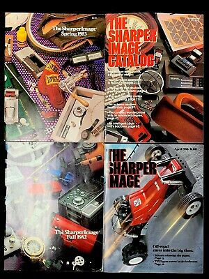 Vintage The Sharper Image Catalog Lot Of 4 1980's Electronics Jewelry Luxury