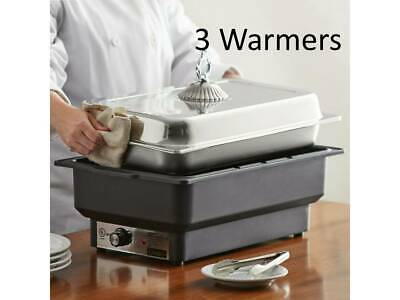 Full Size Black Electric Chafing Dish Chafer Warmer - 120 Volt