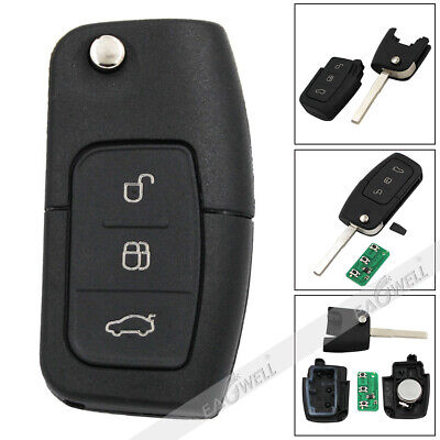 3 Buttons Fold Car Remote Key For Ford Focus 2005-2010/S Max/Galaxy 2006-2010