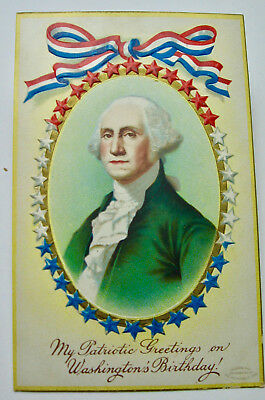 "1910 era ""My Patriotic Greetings on Washington's Birthday"" postcard"