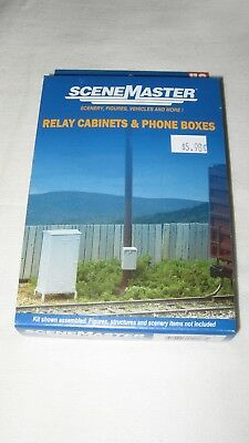 Walthers Scenemaster HO Scale Relay Cabinets & Phone Boxes 949-4154