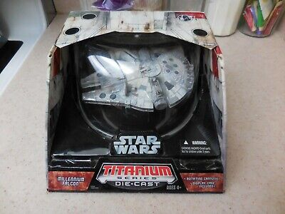 Star Wars Titanium Series - LARGE - Millennium Falcon- Die-Cast - NEW