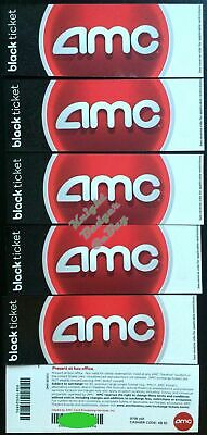 Six (6) AMC Black Movie tickets - fast shipping with tracking