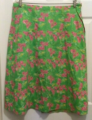 Liza by Lilly Pulitzer Girls' 10 Vintage Green Pink White True Wrap Floral Bees
