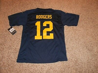 big sale 06137 f4531 $150 NIKE NFL Green Bay Packers Aaron Rodgers 12 Jersey (S ...