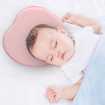 Kids Baby Infant Pillow For Newborn Heart Shape Prevent Flat Head Support Pad