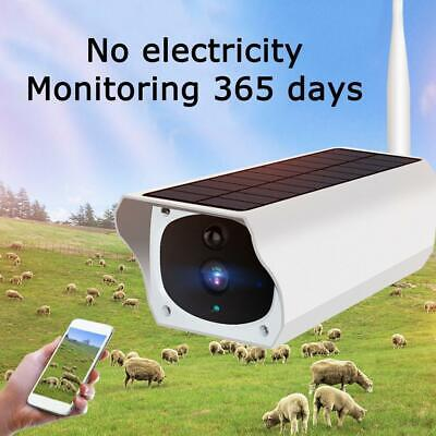 Solar Powered CCTV Security Camera IP 67 Wifi Wireless IR HD 1080P Outdoor 2019
