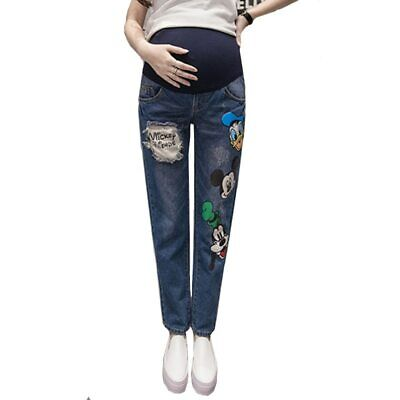 Maternity Denim Trousers Pregnancy Jeans Pregnant Women High Waist Clothes Pants
