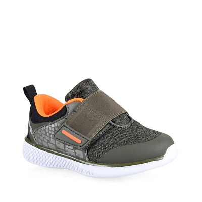 Boys Lightning Bolt Parker Khaki Runners Sneakers Casual Athletic Comfort Shoes