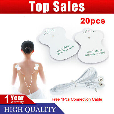 4/10/20X Electrode Pads Reusable For Stud Tens Machines Digital Therapy Massager