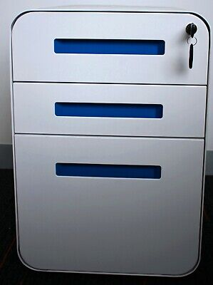 3 Drawer Lateral steel Filling Cabinet Home Office Factory with locks