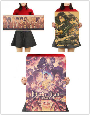 Attack on Titan Japan Comic Kraft Paper Art Poster Wall Painting Home Cafe Decor