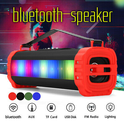 20W PORTATILE LED LUCE bluetooth 4.2 CASSA SPEAKER ALTOPARLANTE USB FM RADIO