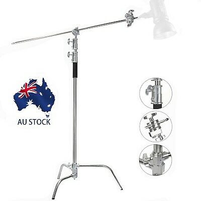 AU Professional Heavy Duty Studio C-Stand with Gobo Arm Grip Heads Century Stand