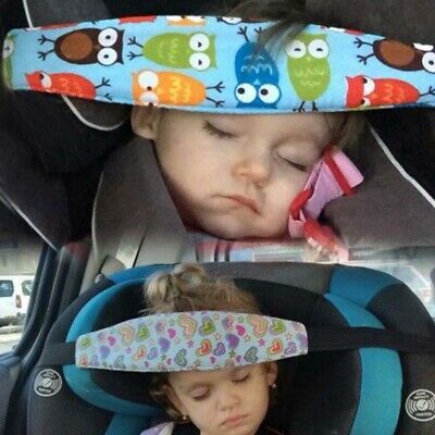 Safety Car Aid Head Seat Sleep Fasten Support Belt Fixing Band for Kids Child UK