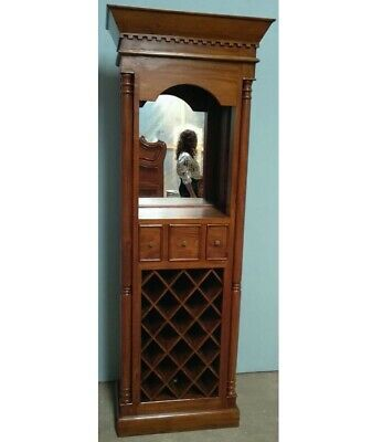 Mahogany French Antique Style Tall Wine Cupboard Cabinet