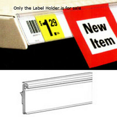 Clear Self-Adhesive Label Holder for Shelf Channels