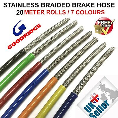 Goodridge braided brake hose-3-race//rally 2 meters With CLEAR PVC COVERING £7.50