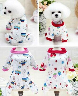 Pet Dog Pajamas Casual Clothes Puppy Cat Soft Cute Cotton Jumpsuit Sleepswear