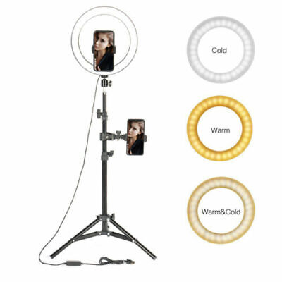 """10"""" Dimmable 5500K LED Ring Light Kit with Stand for Makeup Phone Camera Selfie"""