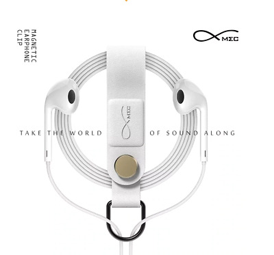 Bcase Magnetic Earphone  Wire Organizer - White
