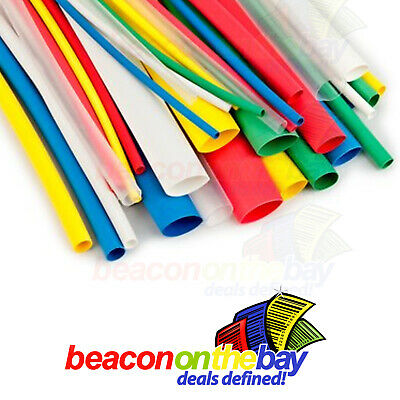 Heat Shrink Tubing 14 Sizes Cut to Length Cable Insulation Wire Sleeve Ratio 2:1