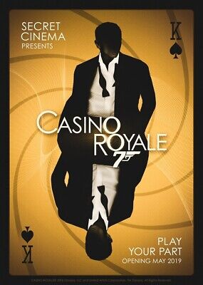 Secret Cinema - Casino Royale 31st August - Can email ticket or collect at venue