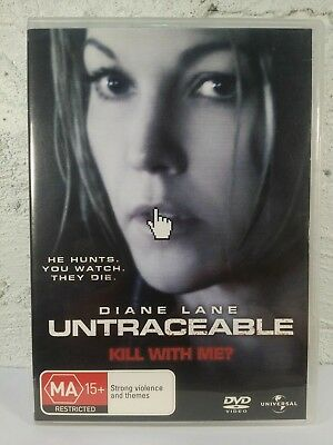 Untraceable DVD Horror Drama Creepy Suspense Thriller Crime
