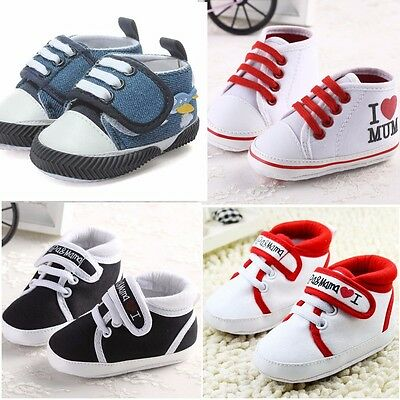 Baby Boy Girl Kids Soft Sole Shoes Infant Toddler Newborn Canvas Sneaker Winter
