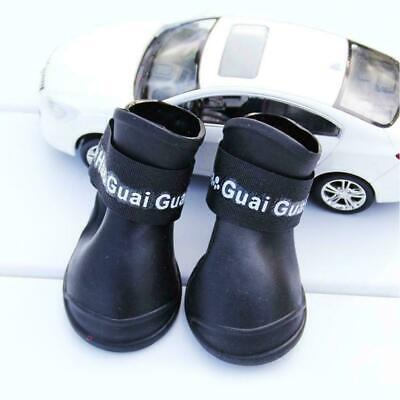 Pet Shoes Booties Rubber Dog Waterproof Rain Boots J6G3