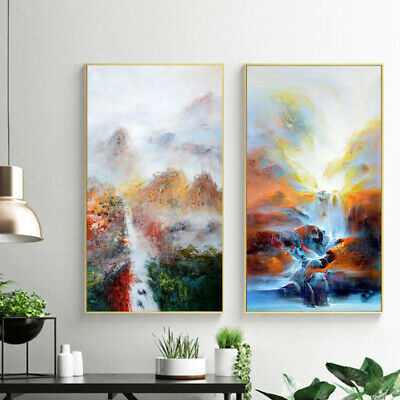 Large Modern Abstract Oil Canvas Print Painting Picture Home Wall Decor Un GGS