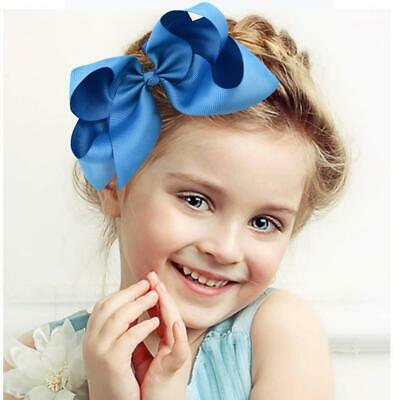 6 Inch Girl Baby Lovely Boutique Hair Accessory Knot Clip Alligator Bow Hai Y0V5