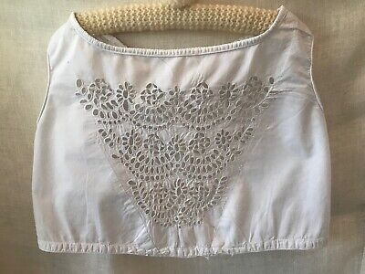 Antique Victorian Girl's Bodice, Needlework Broderie Anglaise, Cotton
