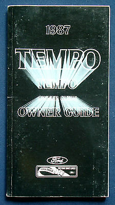 Owner's Manual * Betriebsanleitung 1987 Ford Tempo (USA) Set