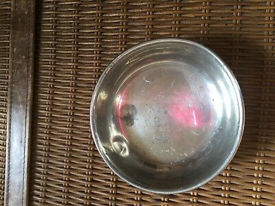 Shirley Pewter From Williamsburg, Virginia, Handmade Nut  Bowl-3 Legged
