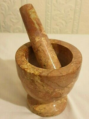 solid marble   Pestle and Mortar, 10 cm X 10  CM  1270 GRAM WEIGHT