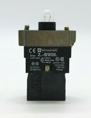Telemecanique  Z-BW06 Pilot Light with ZB2-BE101 Contact Block