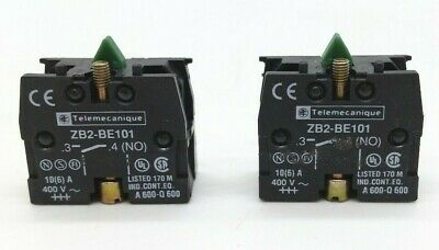 Telemecanique ZB2-BE101 Contact Block (Lot of 2)