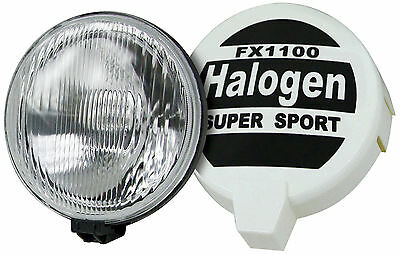 Rally Spotlights Pair Halogen 8'' 12V H3-55W Bulb Rally Covers
