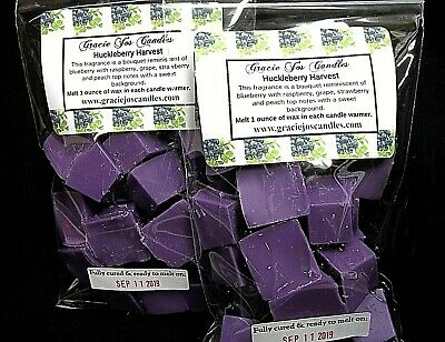 HUCKLEBERRY HARVEST Scented Tart Wax Melts Chunks Home Candle Fall Autumn Scents