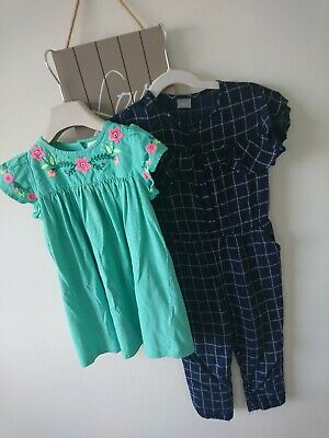 Next baby girl summer party holiday dress playsuit outfit 18-24 months great...