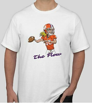 Trevor Lawrence Shirt NCAA Football Clemson Tigers College NFL Orange The Flow S