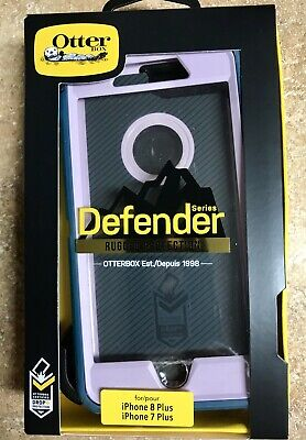 OtterBox Defender Case iPhone 7 Plus 7+  8+ Blue Slipcover Pink Shell Free Ship