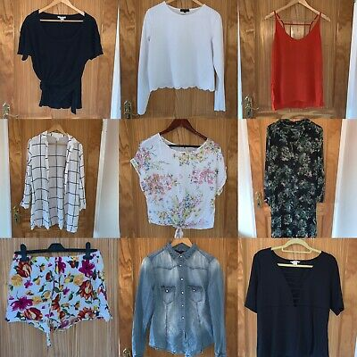 Job Lot Bulk Buy Wholesale Bundle Ladies Clothing x11 Items Size 12 Zara H&M